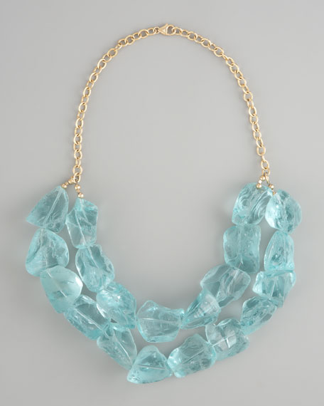 Aqua Quartz Necklace