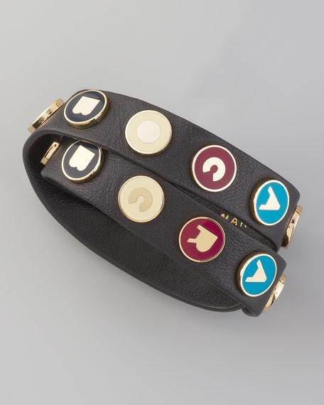 Dreamy Logo Leather Bracelet