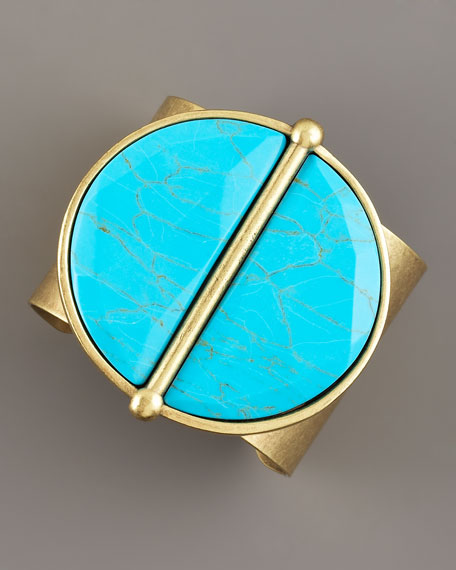 Kat Medallion Cuff, Turquoise