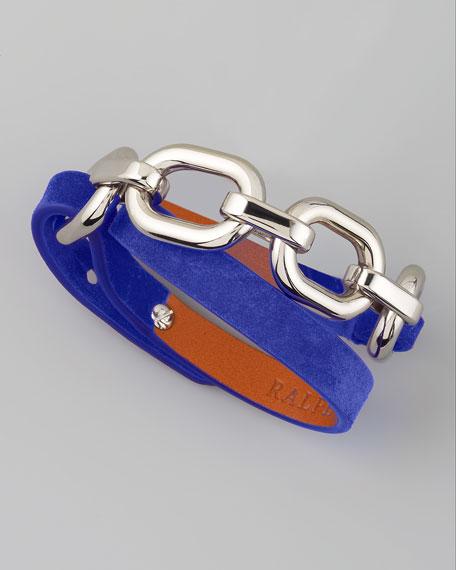 Suede Wrap Bracelet, Blue