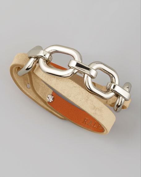 Suede Wrap Bracelet, Camel