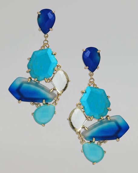 Lauren Drop Earrings, Blue