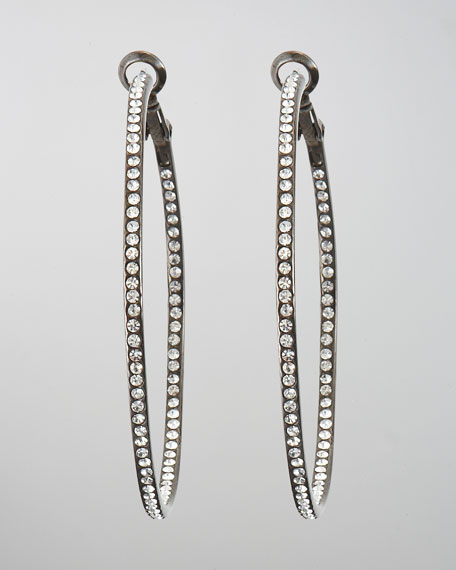 Pave Gunmetal Eternity Hoops (CUSP Most Loved!)