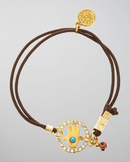 Pave Hamsa Stretch Bracelet