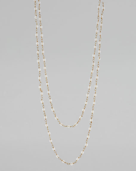 Clear Bead-Chain Necklace