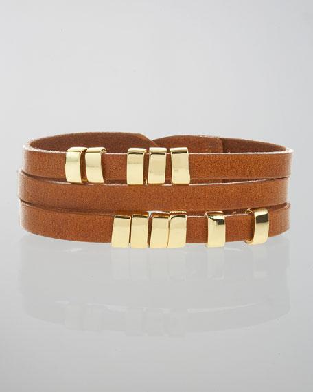 Sliced Leather Bracelet