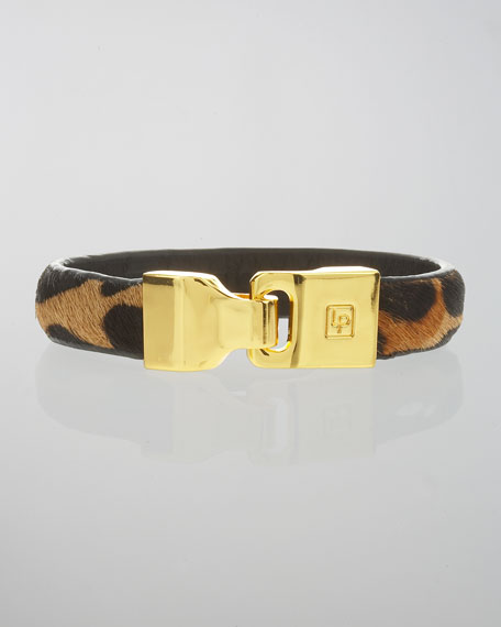 Calf Hair Leather Bangle