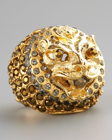 Pave Lion Ring