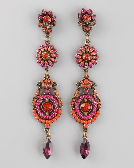 Three-Drop Earrings