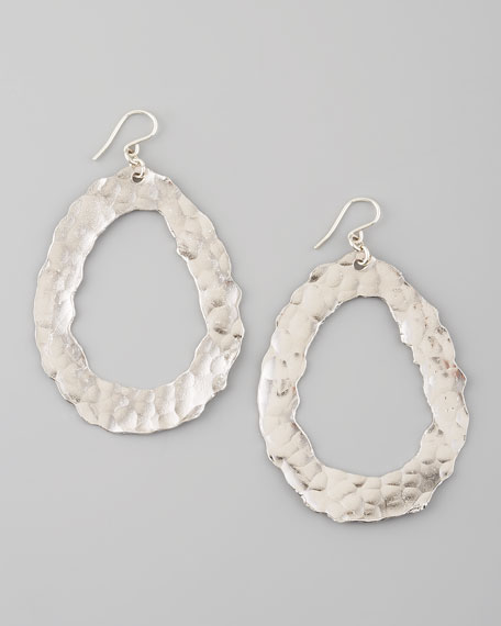 Open-Circle Earrings, Silver