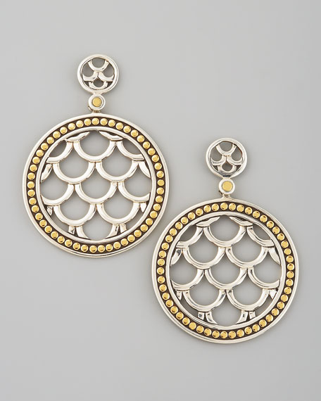 Round Drop Earrings, Small