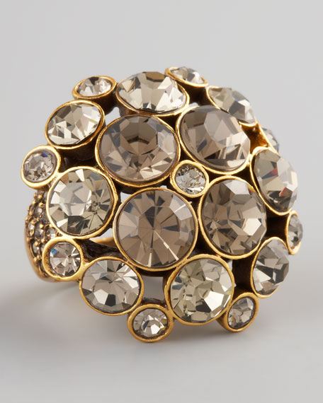 Crystal Cluster Ring, Gray