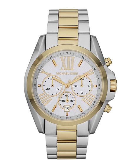 Mid-Size Bradshaw Chronograph Watch, Two-Tone