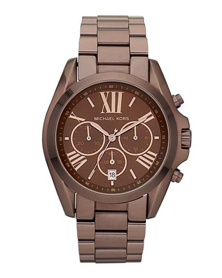 Mid-Size Bradshaw Chronograph Watch, Espresso