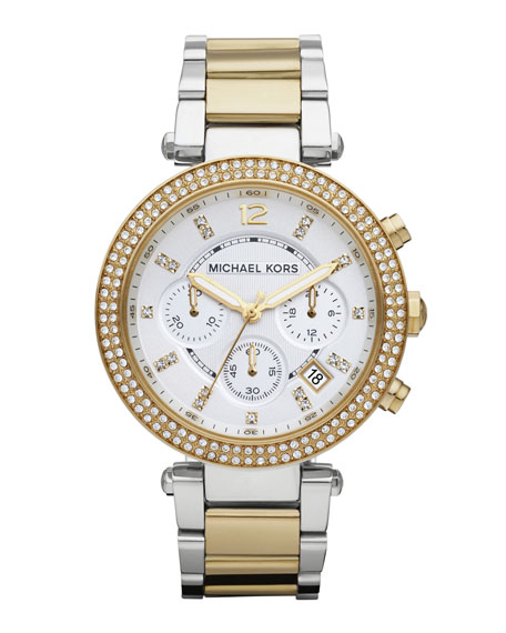 Michael KorsParker Glitz Watch, Two-Tone