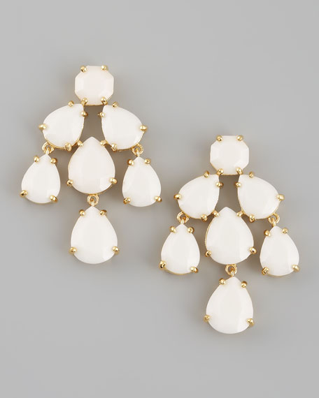 chandelier earrings, white