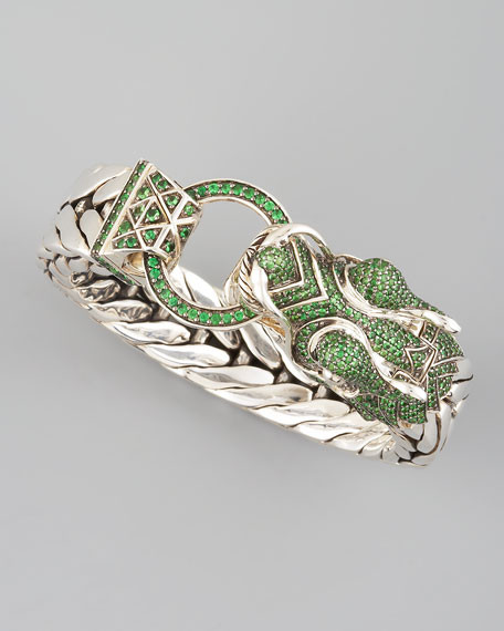 Naga Dragon Head Bracelet, Tsavorite