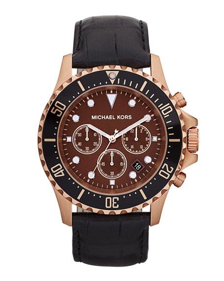 Everest Chronograph Watch, Black