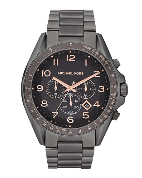 Oversize Men's Bradshaw Watch, Gunmetal