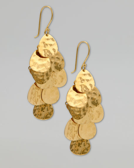 Cascade Earrings, Gold