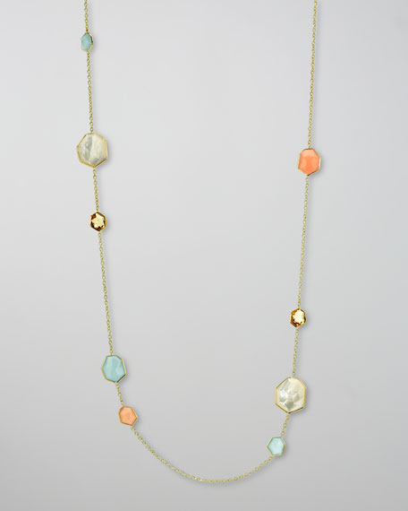Geometric-Station By-the-Yard  Necklace, Silk Road