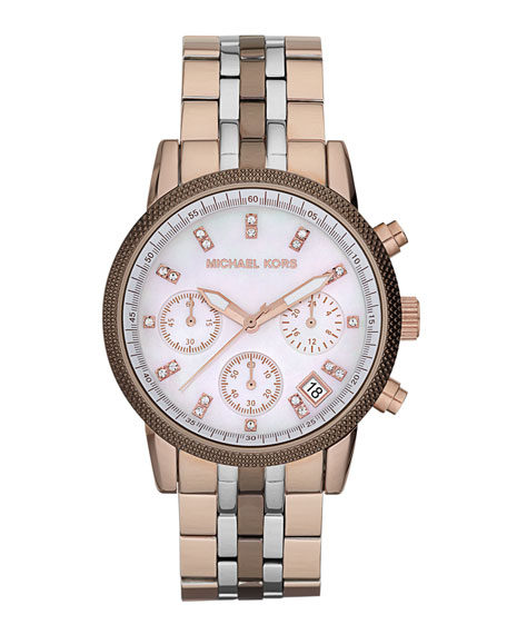 Ritz Chronograph Watch, Tricolor