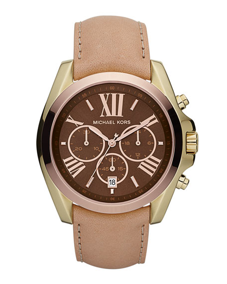 Bradshaw Chronograph Leather Watch, Tricolor