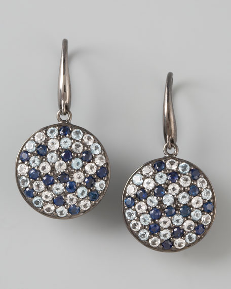 Pave Sapphire Drop Earrings, Ice
