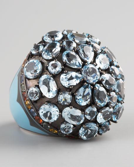 Blue Topaz Dome Ring