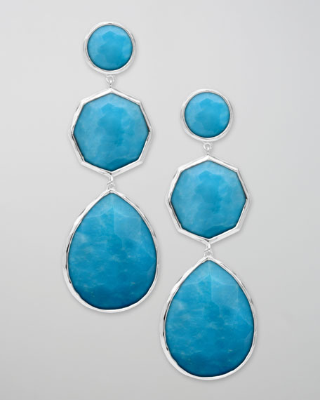 Turquoise Crazy-Eight Wonderland Earrings