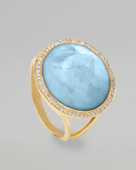 Lollipop Ring, Blue Topaz