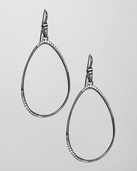 Open Teardrop Diamond Earrings