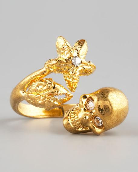 Skull, Starfish, & Claw Ring