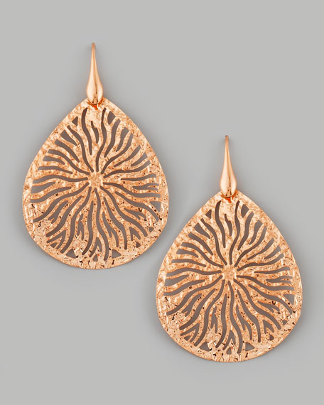 Teardrop Earrings, Rose Gold