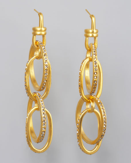 Pave Link Earrings