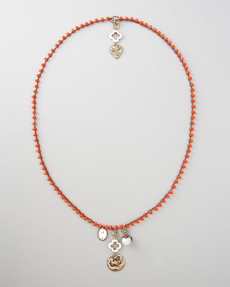 Double-Sided Necklace, Orange