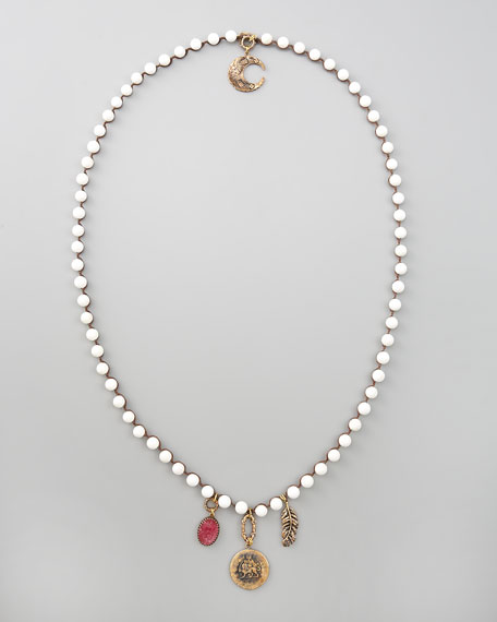 Double-Sided Necklace, White