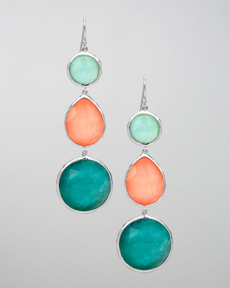 Triple-Drop Earrings, Breeze