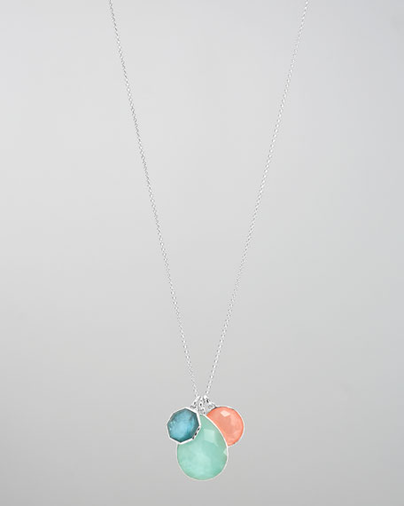 Three-Stone Pendant Necklace, Breeze