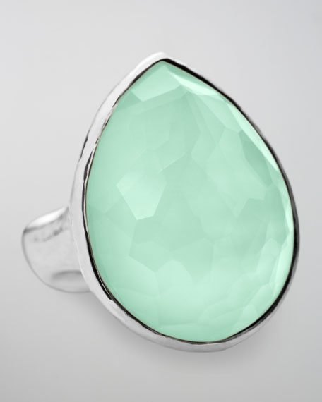 Wonderland Teardrop Ring, Aqua