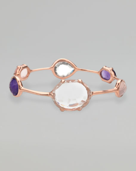 Rose Gold Multi-Stone Bangle