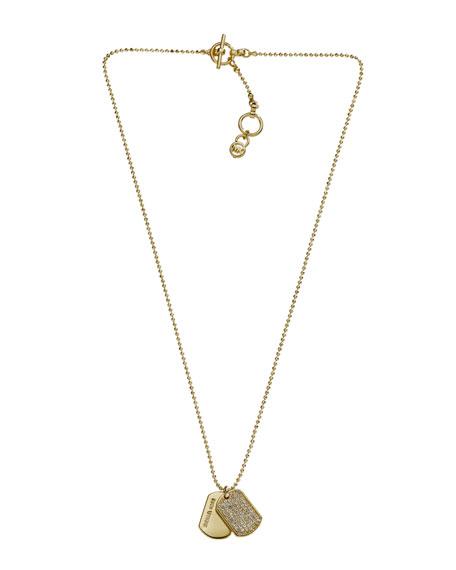 Golden Dog Tag Necklace