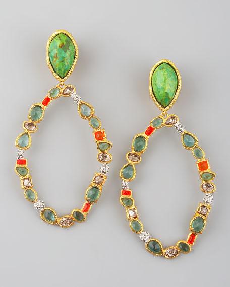 Multicolor Hoop Earrings