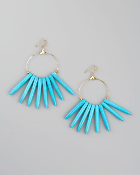 Turquoise Spike Earrings