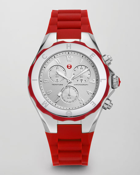 Tahitian Large Jelly Bean Chronograph, Red