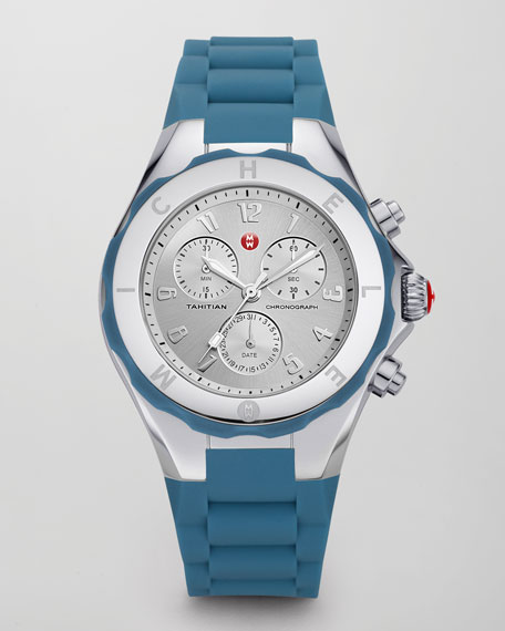 Tahitian Large Jelly Bean Chronograph, Blue-Gray