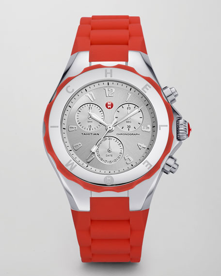 Tahitian Large Jelly Bean Chronograph, Coral