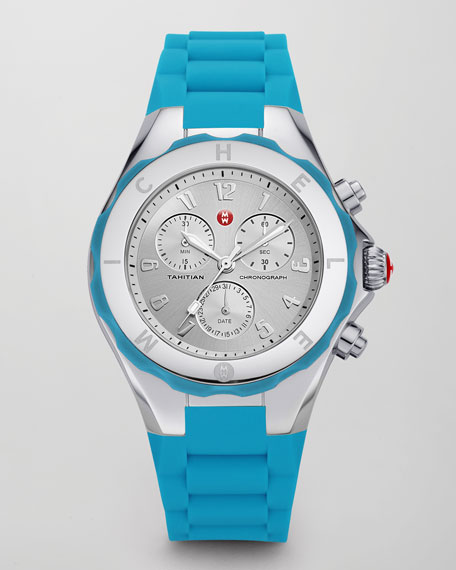 Tahitian Large Jelly Bean Chronograph, Blue