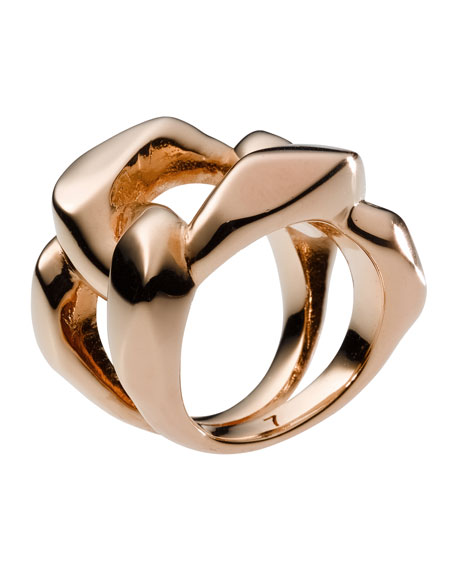 Chain Ring, Rose Golden