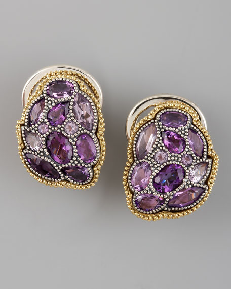 Ombre Earrings, Amethyst